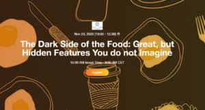 """25 NOVEMBRE 2020: Webinar gratuito """"The Dark Side of the Food: Great, but Hidden Features You do not Imagine"""""""